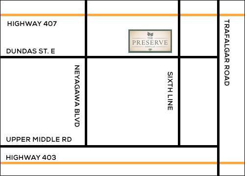 Oakville Preserve map